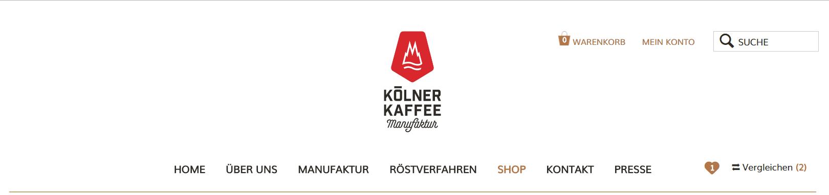 Koelner Kaffeemanufaktur Shop